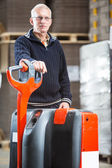 Pallet truck portrait — Stock Photo