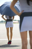Grid Girls — Stock Photo