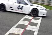 Race track mållinjen — Stockfoto