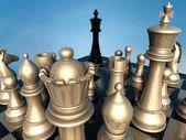 Chess: end of battle — Foto de Stock