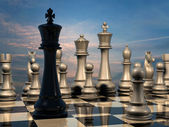 Chess: end of battle — Stock Photo