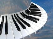 令人惊异的钢琴键 — 图库照片