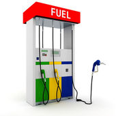3d gas station on white background — Stock Photo