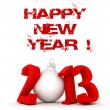 Royalty-Free Stock Photo: 3d Happy New Year 2013 !