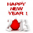 Stock Photo: 3d Happy New Year 2013 !