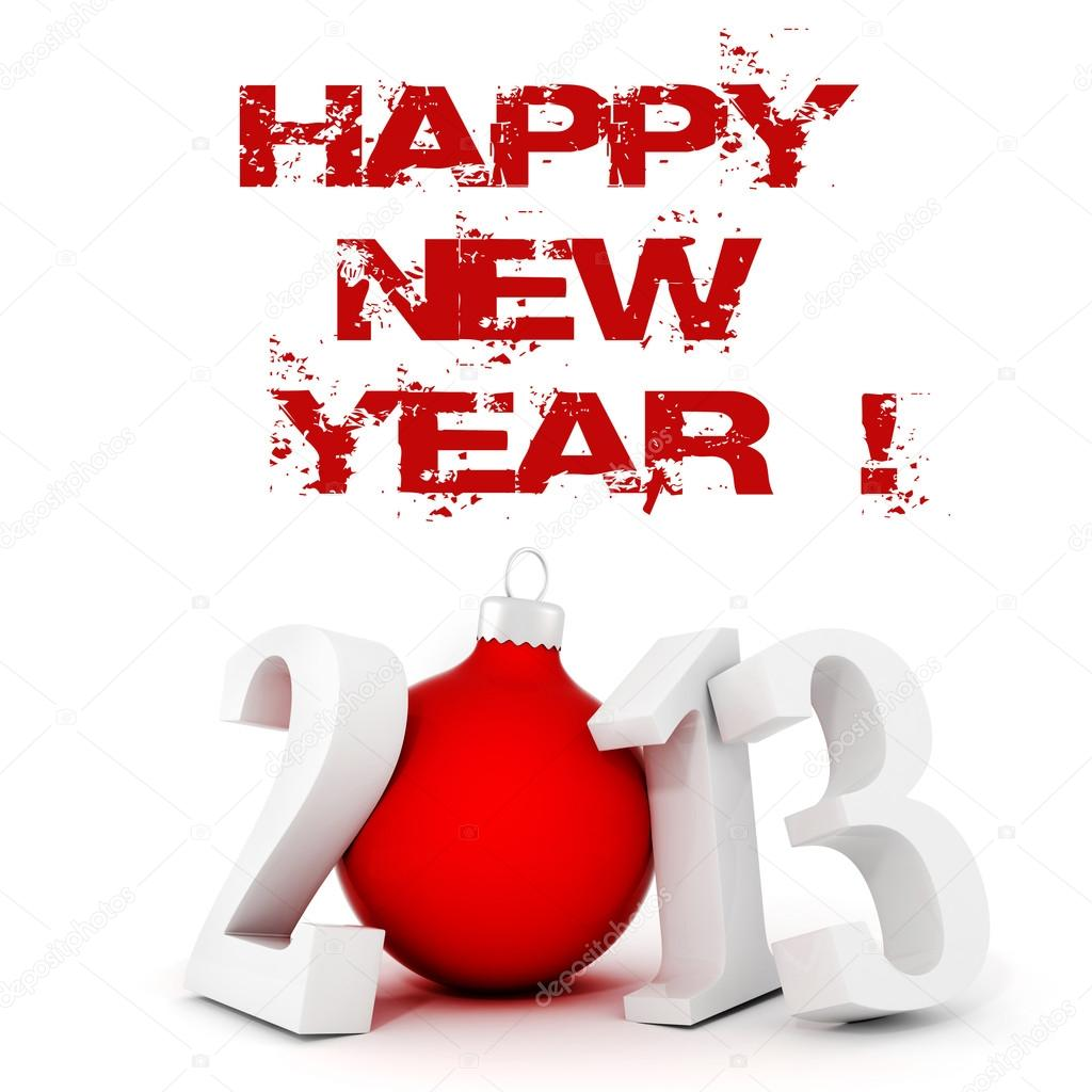 3d Happy New Year 2013 ! — Stock Photo #12637334