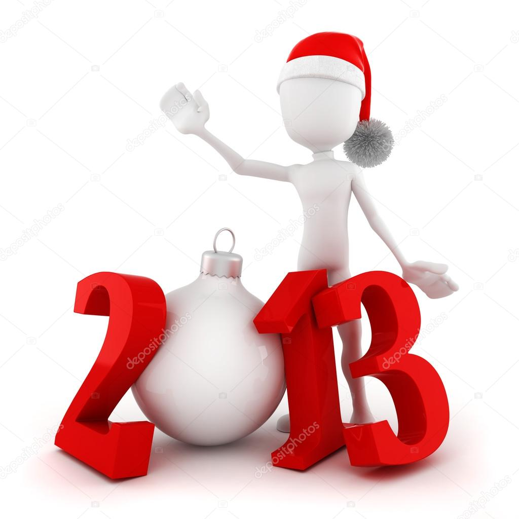 3d man, Happy new year 2013! — Stock Photo #12728188