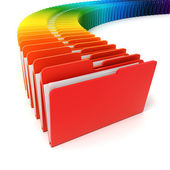 3d colorful folders on white background — Stock Photo