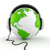 Concepto de centro de llamadas en línea 3d — Foto de Stock