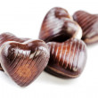 Delicious  chocolate hearts — Foto de Stock
