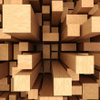 3d abstract wooden background - ストック写真