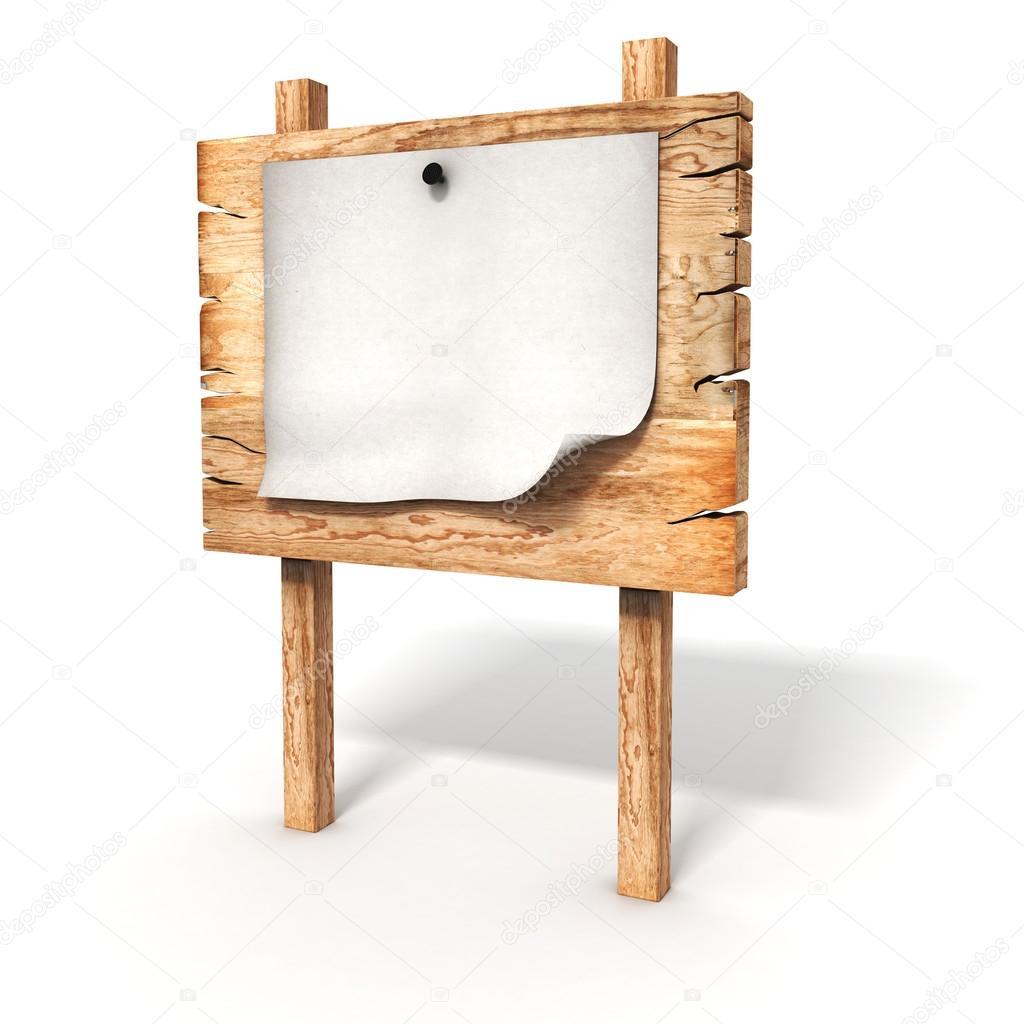 Blank Wooden Sign Board 3d Blank Wooden Sign Board