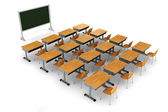 3d classroom on white background — Stock Photo