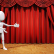 3d man on stage — Stock Photo