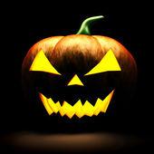 3d scary halloween pumpkin on black background — Stock Photo