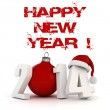 3d Happy New Year 2014 ! — Stock Photo