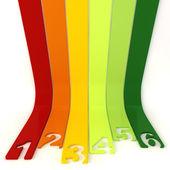 3d 抽象线条和数字 — 图库照片