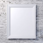 Blank frame on vintage wall — Stock Photo