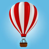 3d colorful hot air balloon — Stock Photo