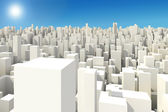 3d big city skyline — Stok fotoğraf