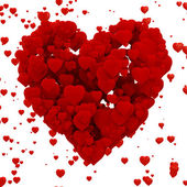 3d heart made of hearts , background — Foto Stock