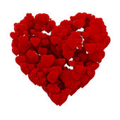 3d heart made of hearts , background — Stock Photo
