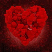 3d heart made of hearts on grunge background — Stock Photo