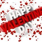 3d happy valentine's day text — Stock Photo #38765655