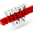 3d happy valentine's day text — Stock Photo