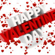 3d happy valentine's day text — Stock Photo #38765655