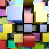 3d colorful blocks background — Stock Photo