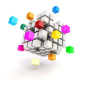 3d abstract cubes on white background — Stock Photo