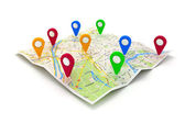 3d travel and navigation planning, concept — Stock Photo