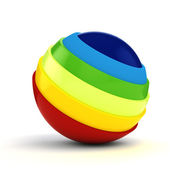 3d colorful sphere on white background — Stock Photo