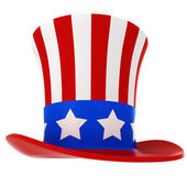 3d hat - usa independence day, on white background — Φωτογραφία Αρχείου