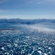 Ice fjord aerial — Stock Photo