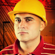 Young construction worker — Stockfoto #12610926