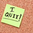 Stock Photo: I quit note