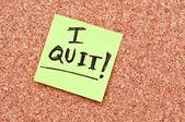 I quit note — Stock Photo