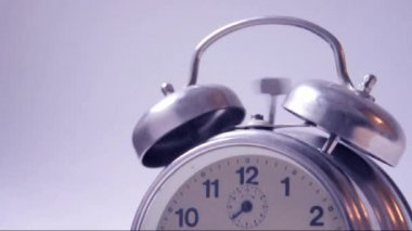 Classic alarm clock, close up footage