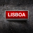 Lisboa Vintage light display — Stock Photo