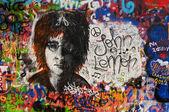 Lennon wall in Prague — Stock Photo