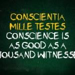 Постер, плакат: Conscience is witness