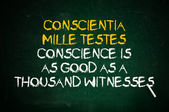 Conscience is witness — Stock Photo