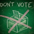 Do not vote - Stock Photo