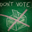 Stock Photo: Do not vote