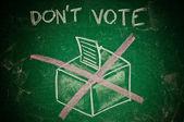 Do not vote — Stock Photo