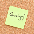 Goodbye note — Stock Photo