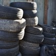 Stack of car tires — Stock Photo #14842285
