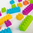 Stock Photo: Colorful lego blocks